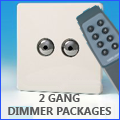 2 Gang Dimmer Packages