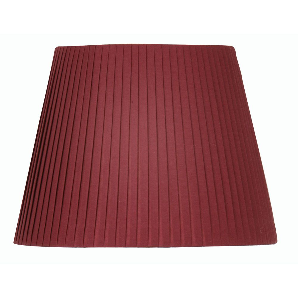 oaks 20 inch pencil pleat lamp shade in wine red s814 20 wi. Black Bedroom Furniture Sets. Home Design Ideas