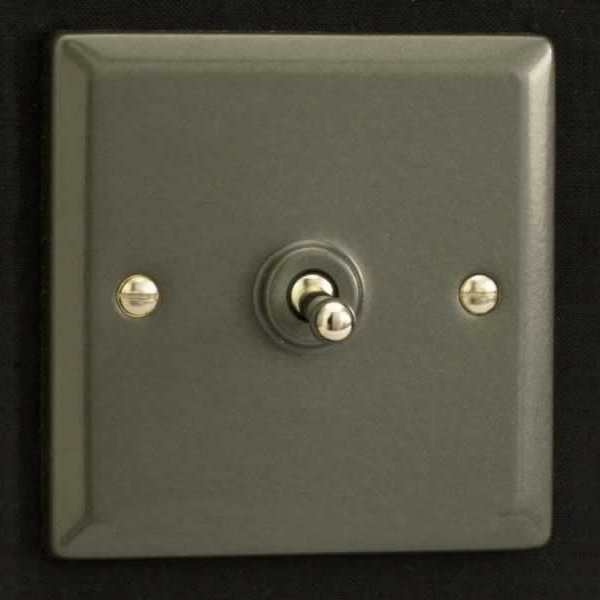 varilight 1 gang 10a 1 or 2 way dolly toggle light switch graphite 21 xpt1