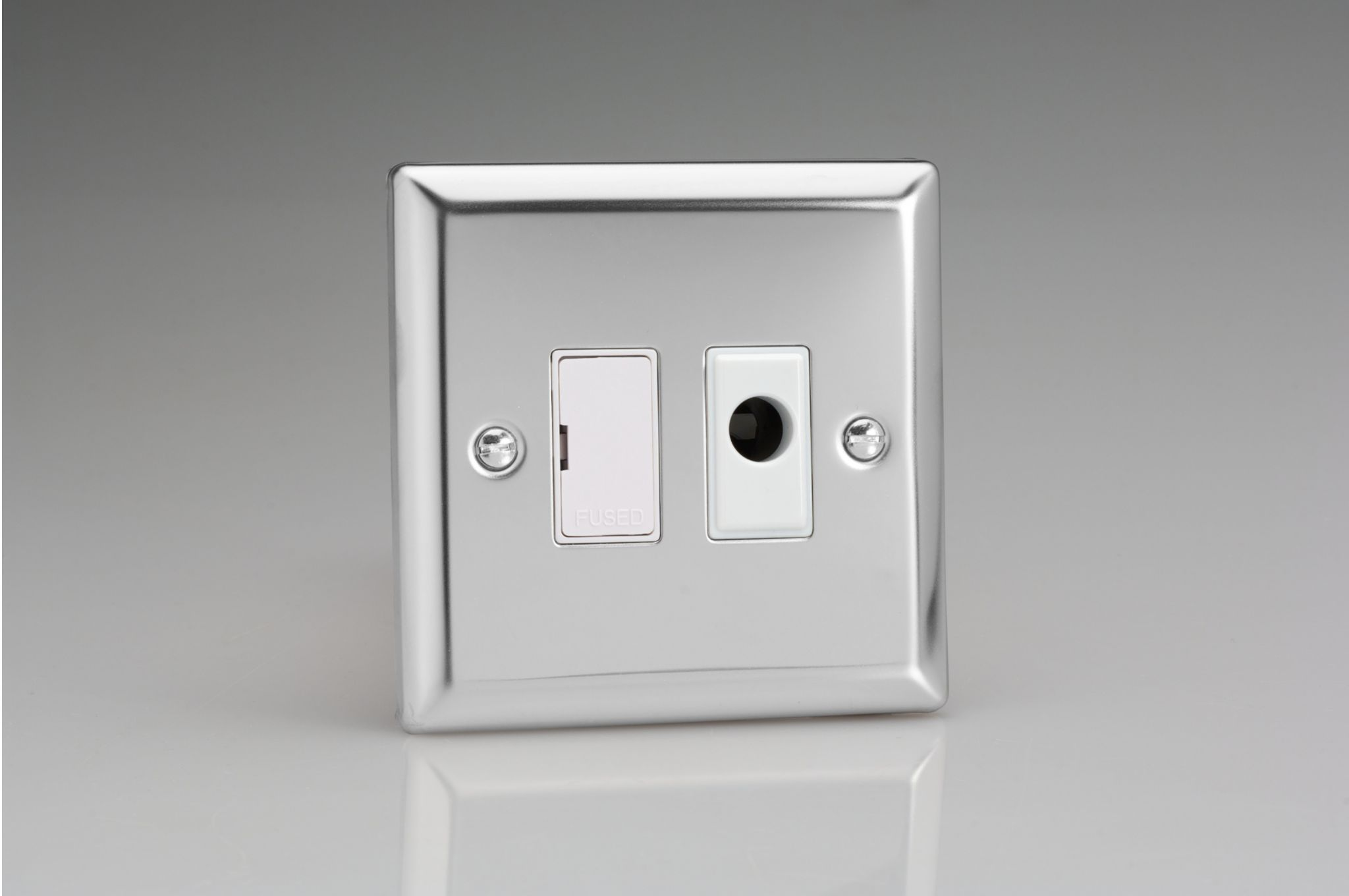 Varilight 13a Unswitched Fused Spur Flex Outlet Mirror