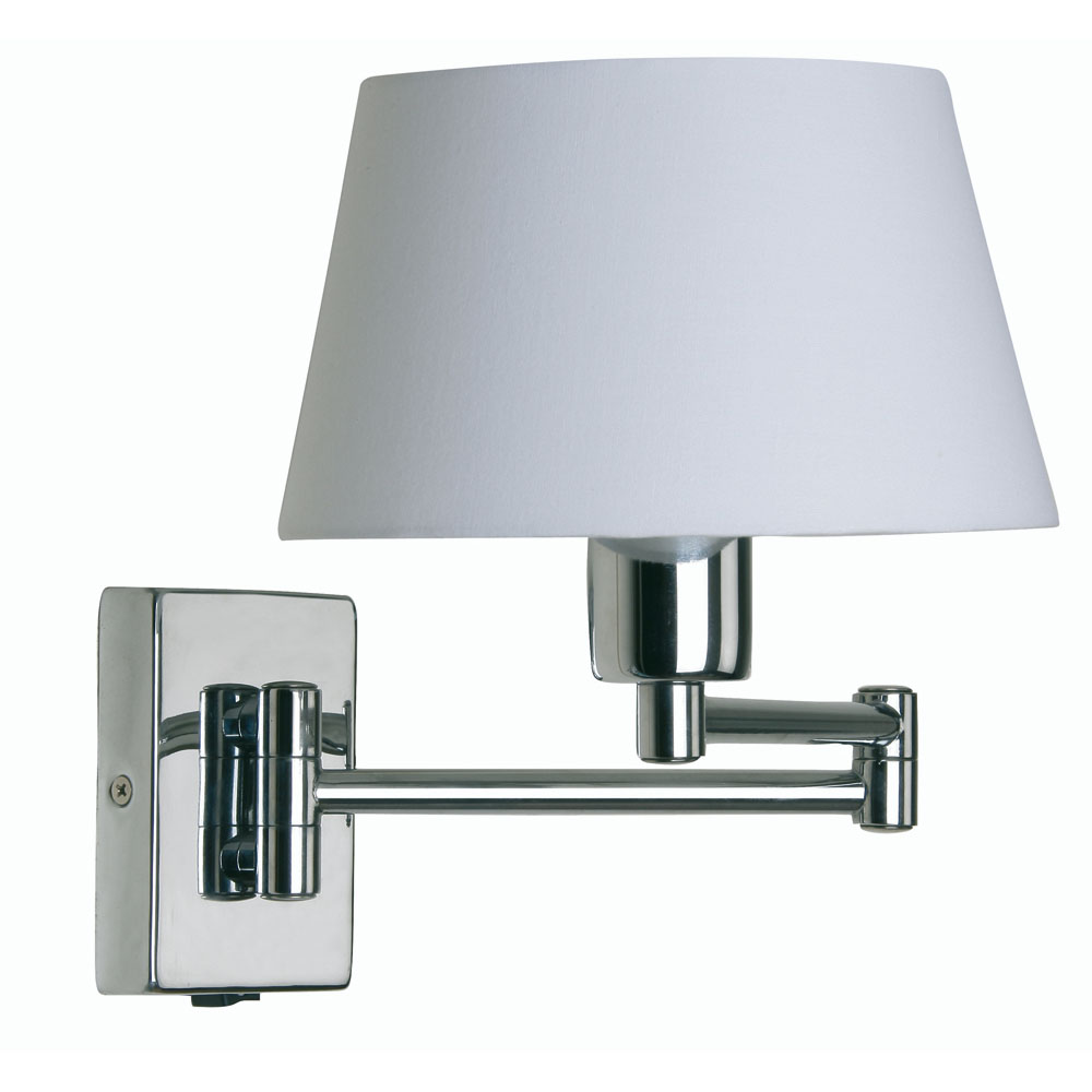 Wall Lighting Swing Arm Lamps : Armada 1x60w Double Swing Arm Wall Light in Chrome - Oaks Lighting 722 CH