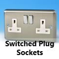 Brushed Matt Chrome - 13 Amp Plug Sockets