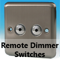 Brushed Matt Chrome - Remote Dimmer Switches