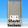 Brushed Matt Chrome - Shaver Sockets