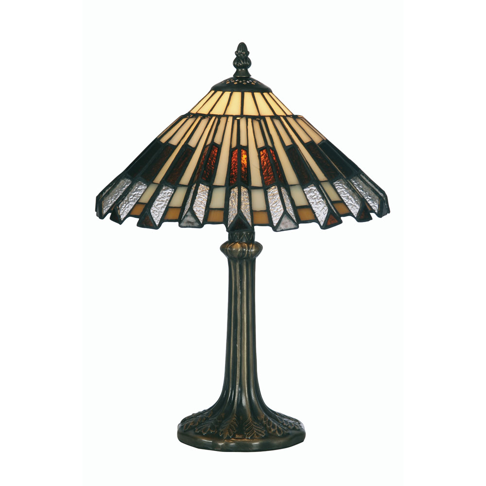 Dahlia 1x60w tiffany glass 12 inch table bedside lamp for 12 inch bedside table