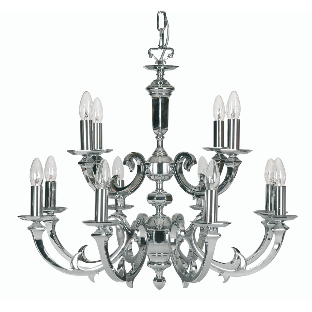 dorchester 12x60w ceiling light fitting in chrome