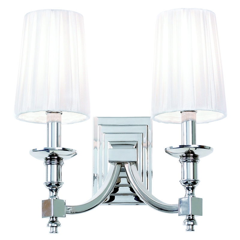 Wall Bracket Light Fittings : Endon Lighting Envisage 2 Arm Chrome Wall Bracket Light Fitting 2x40w SES DOMINA-2WBNI