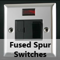 Mirror Chrome - 13 Amp Fused Spur Switches