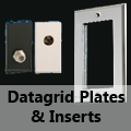 Mirror Chrome - Datagrid Plates & Inserts (Telephone, CAT5, TV, SAT etc)