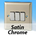 Satin Chrome Rocker Light Switches