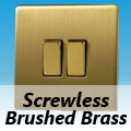 Screwless Brushed Brass Rocker Light Switches