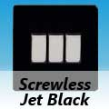 Screwless Jet Black Rocker Light Switches