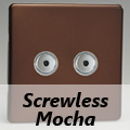 Screwless Mocha Remote/Touch Dimmer Switches