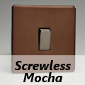 Screwless Mocha Rocker Light Switches