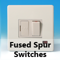 Screwless Premium White - 13 Amp Fused Spur Switches