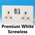 Screwless Premium White 13 Amp Switched Plug Sockets
