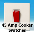 Screwless Premium White - 45 Amp Cooker Switches