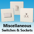 Screwless Premium White - Miscellaneous Switches and Sockets