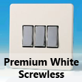 Screwless Premium White Rocker Light Switches