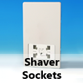 Screwless Premium White - Shaver Sockets