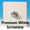 Screwless Premium White Standard Dimmer Switches
