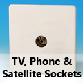 Screwless Premium White - TV, Phone & Satellite Sockets