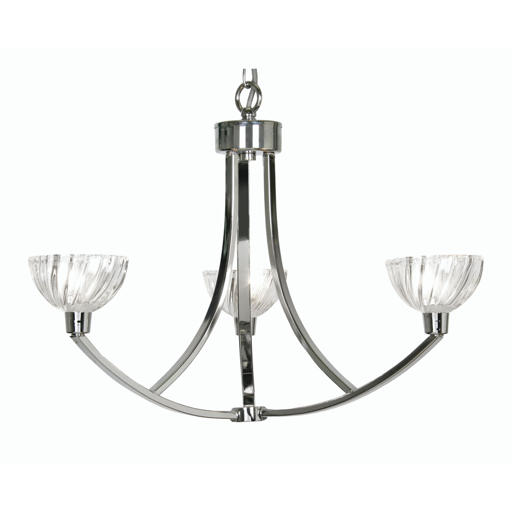 tacy 3x40w ceiling pendant light fitting in chrome