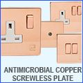 Varilight Antimicrobial Copper Switches & Sockets - Screwless Plate