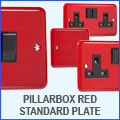 Varilight Pillarbox Red Switches & Sockets Standard Plate