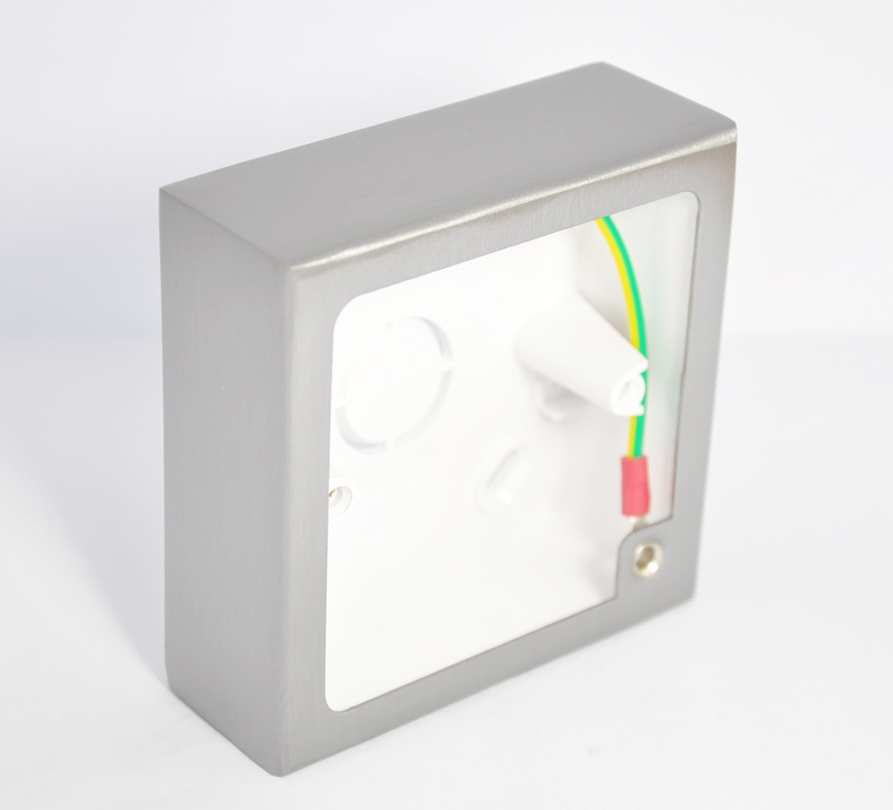 Toggle Switch Wiring >> 1 Gang Decorative Surface Mounted Stainless Steel Pattress Box - 35mm Depth