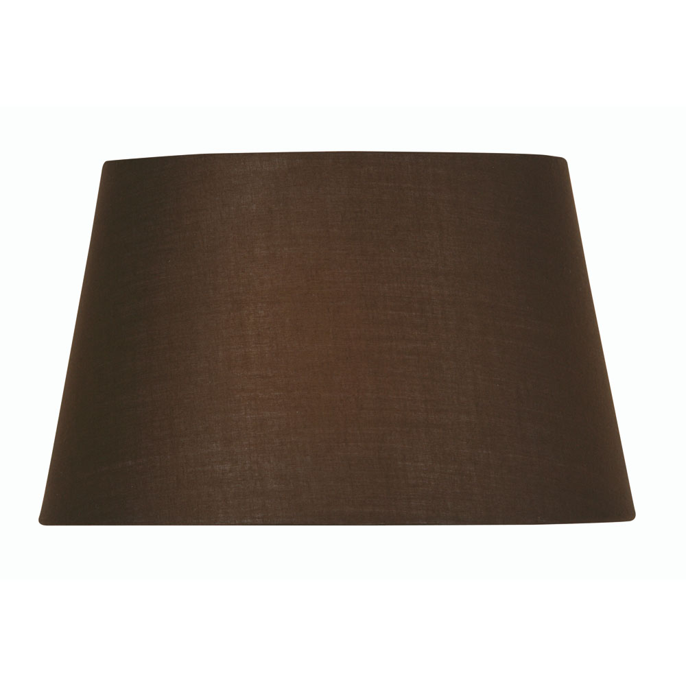 08ed2a57472f Chocolate Cotton Drum Fabric Lamp Shade 10 inch S901 10CO - Oaks Lighting