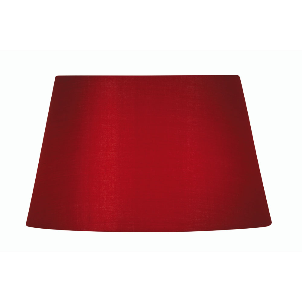75d19b578e2d Red Cotton Drum Fabric Lamp Shade 8 inch S901 8RD - Oaks Lighting