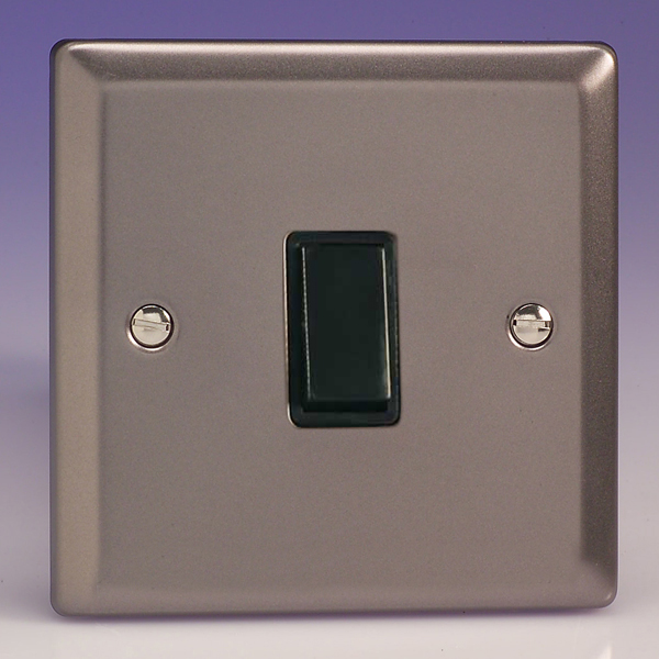 Varilight 1 gang 1 or 2 way 10a rocker light switch pewter slate varilight 1 gang 1 or 2 way 10a rocker light switch pewter slate grey with black insert xr1b publicscrutiny Images