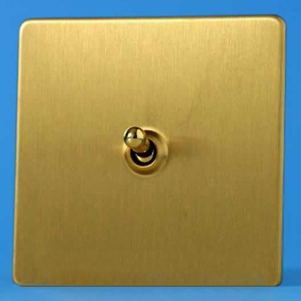 Varilight Gang A Or Way Dolly Toggle Light Switch Screwless Brushed Brass Xdbt S P
