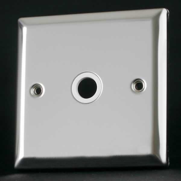 Varilight 1 Gang Flex Outlet Plate Mirror Chrome Finish