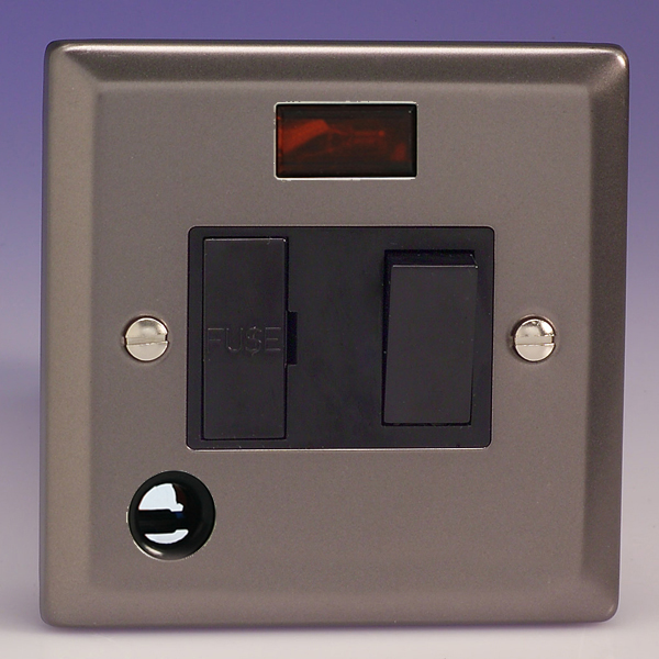 Varilight 13a Switched Fused Spur Neon Flex Outlet Pewter