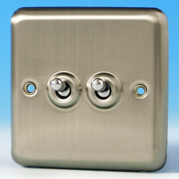 Varilight 2 Gang 10a 1 Or 2 Way Dolly Toggle Light Switch