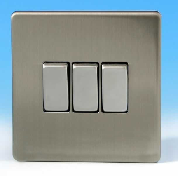 Varilight 3 gang 1 or 2 way 10a rocker light switch screwless matt varilight 3 gang 1 or 2 way 10a rocker light switch screwless matt chrome dec switch xds3s publicscrutiny Images