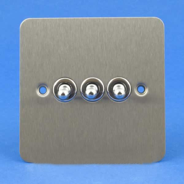 Varilight Gang A Or Way Dolly Toggle Light Switch Ultra Flat Brushed Steel Xfst P