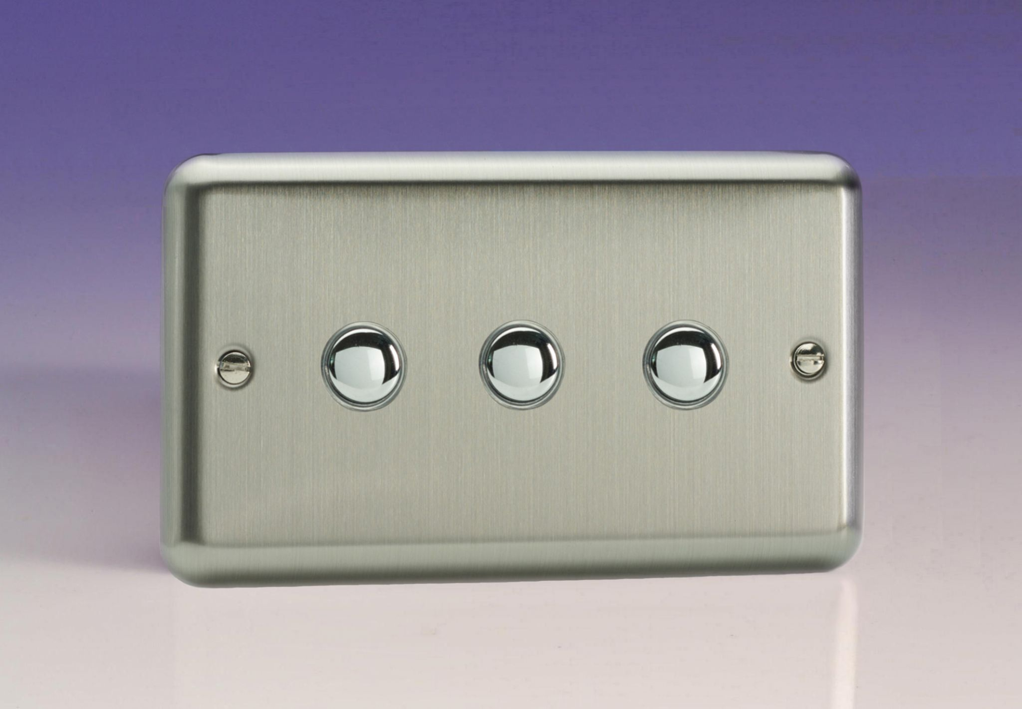 Varilight 3-Gang 6A 1-Way Push-to-Make Momentary Switch in Standard ...
