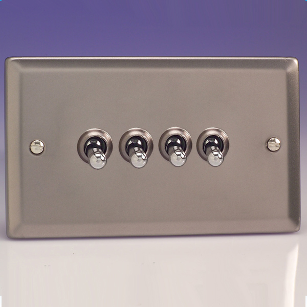 Varilight 4 Gang 10a 1 Or 2 Way Dolly Toggle Light Switch