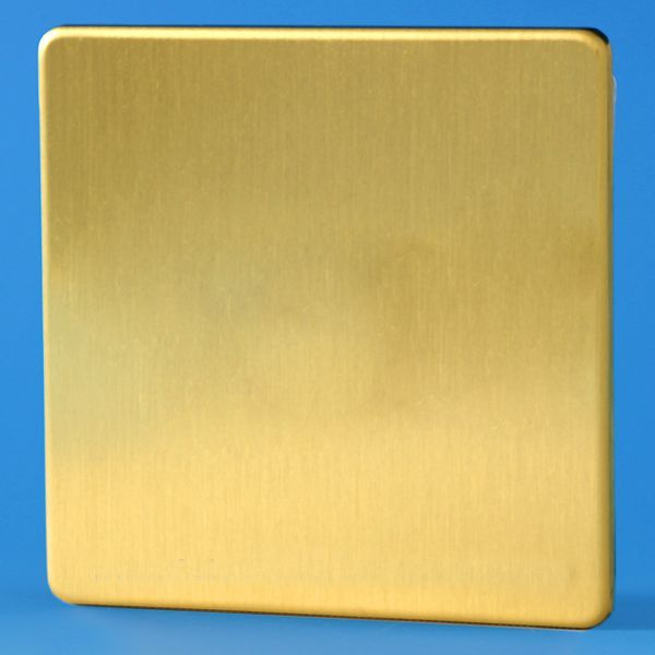 fused switch box varilight single blank plate screwless brushed brass  varilight single blank plate screwless brushed brass