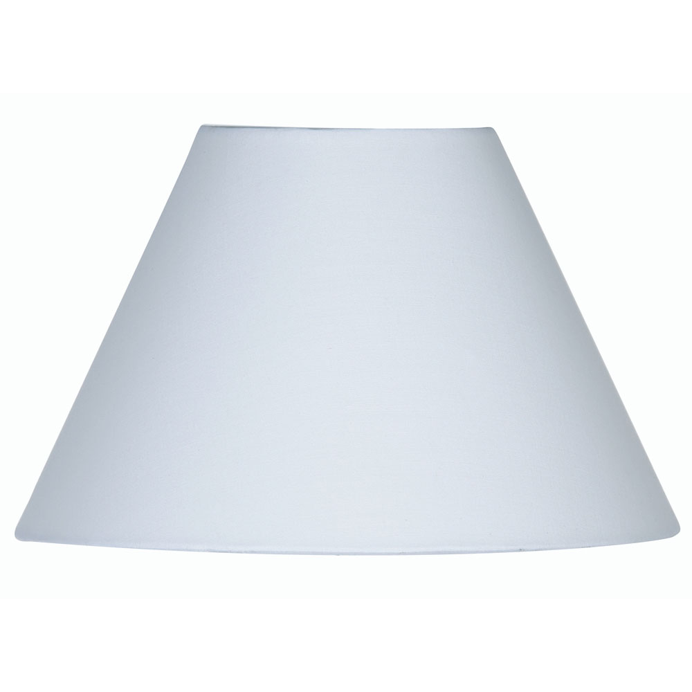 White Cotton Coolie Fabric Lamp Shade 20 Inch S501 20wh