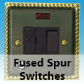 Antique Georgian Brass - 13 Amp Fused Spur Switches