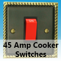 Antique Georgian Brass - 45 Amp Cooker Switches