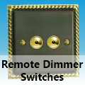 Antique Georgian Brass - Remote Dimmer Switches