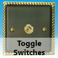 Antique Georgian Brass - Toggle Switches