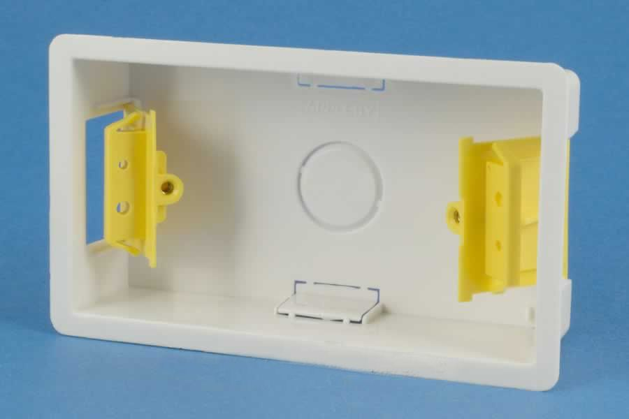 fused switch box appleby sb629 35mm dry lining wall back    box    2 gang  appleby sb629 35mm dry lining wall back    box    2 gang