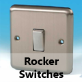 Brushed Matt Chrome - Rocker Switches