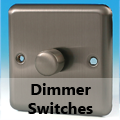 Brushed Matt Chrome - Standard Dimmer Switches